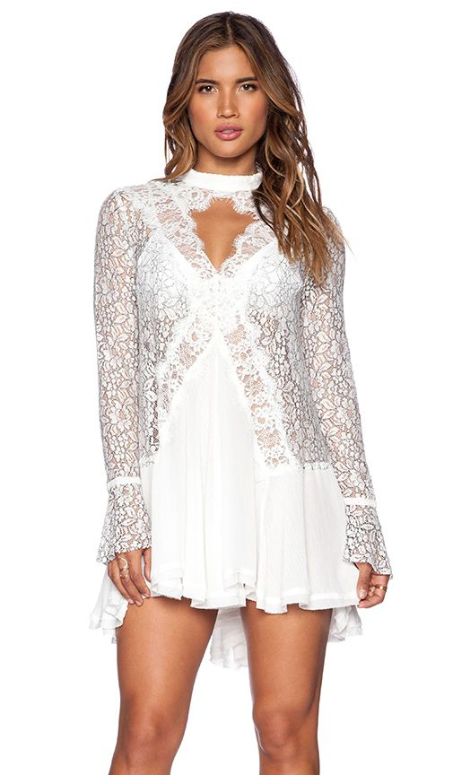 Shop for Free People New Tell Tale Lace Tunic in Ivory at REVOLVE. Free 2-3 day shipping and returns, 30 day price match guarantee.