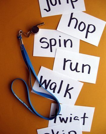 "Such a fun idea! Young readers will love this active relay race activity- puts the ""doing"" in verbs!"
