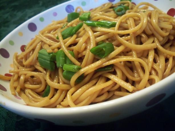 Simple Chinese Noodles from Food.com:   								Just a recipe I picked up at Safeway when they were demonstrating it.  Serving amount is a guess.
