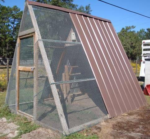 A frame Chicken coop.
