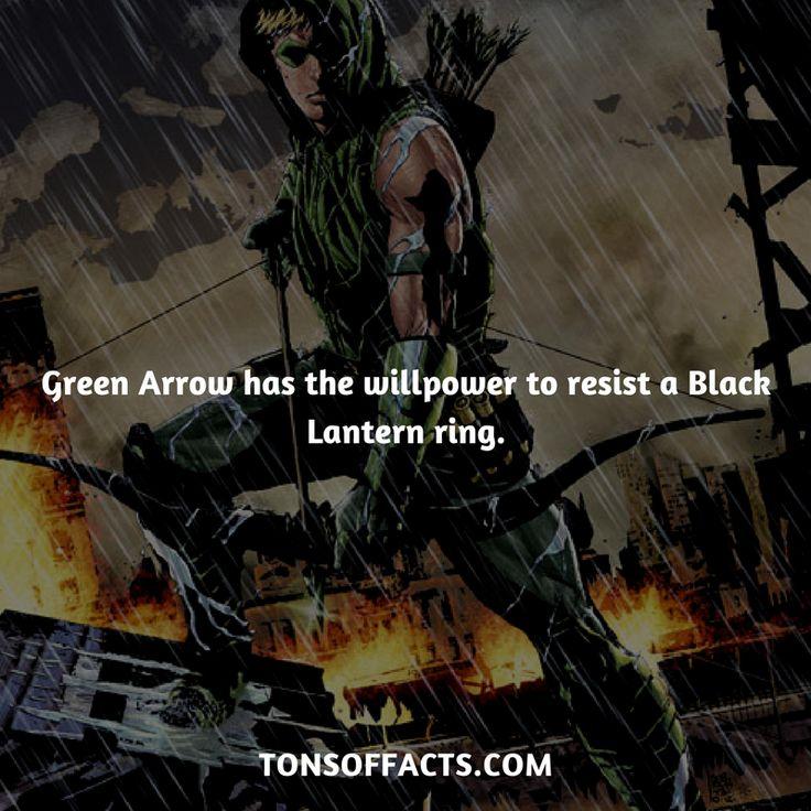 He has the willpower to resist a Black Lantern ring. #greenarrow #tvshow #justiceleague #comics #dccomics #interesting #fact #facts #trivia #superheroes #memes #1 #movies #oliverqueen