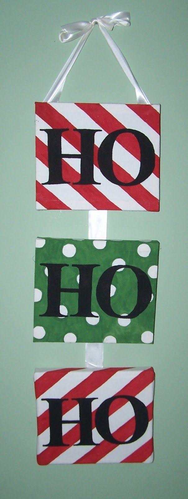 The Beautiful Budget:  Ho Ho Ho DIY Christmas Canvas