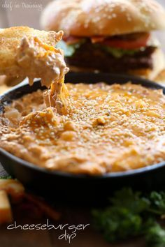 Cheeseburger Dip - This Dip is AMAZING! Cheesy, Beefy and packed with so much delicious flavor!