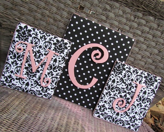 Nursery Letters 11x14  Black and White Nursery by spellitwithstyle, $21.99