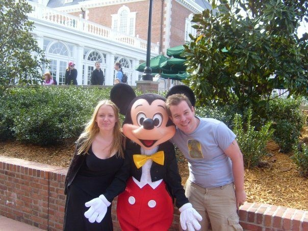 8 - my favourite image in my phone - my girlfriend Gilly and me at disneyworld meeting Mickey #amazingfinds