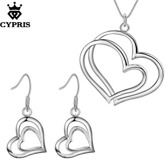 CYPRIS оптовая торговля розничная торговля набор свадьба свадьбу ювелирные наборы мода серебряные украшения серьги…