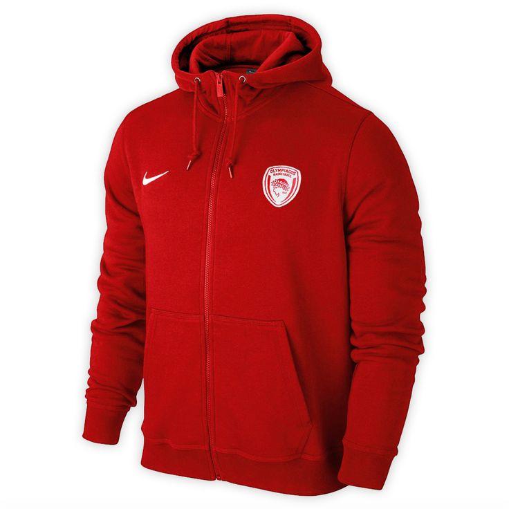 ΝΙΚΕ Hooded Zip Footer Mn Olympiacos BC - Red
