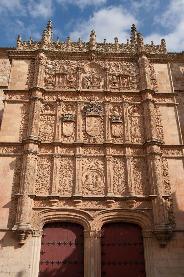 Fachada, la Universidad de Salamanca, España (estilo plateresco)