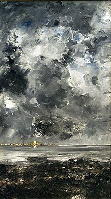 Awesome painting by Swedish novelist/playwright/painter Johan August Strindberg. I need to read me some Strindberg.