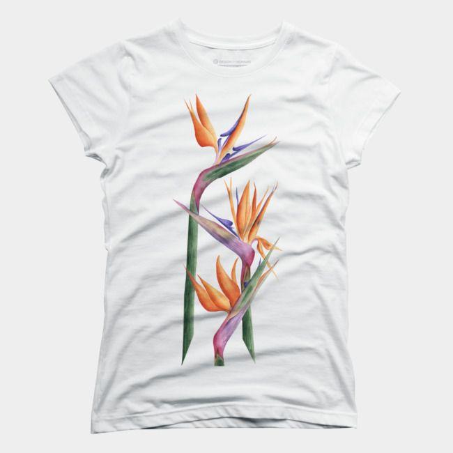 Bird Of Paradise T Shirt By Lyubovfonareva Design By Humans