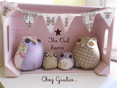 Gufetti di stoffa imbottiti - Owl
