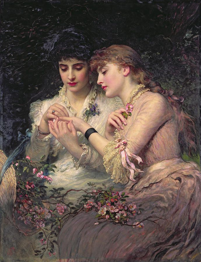 ⊰ Posing with Posies ⊱ paintings of women and flowers - James Sant - A Thorn Amidst Roses (1887)