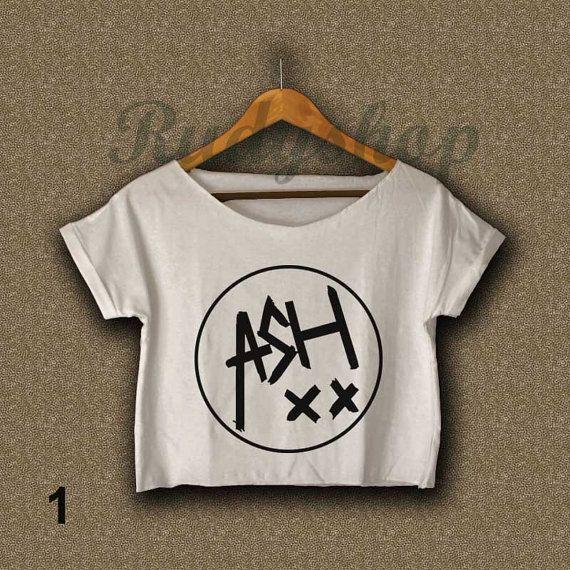 5 seconds of summer shirt NEW 5sos ash xx logo shirt t-shirt women crop tee tank top crop top