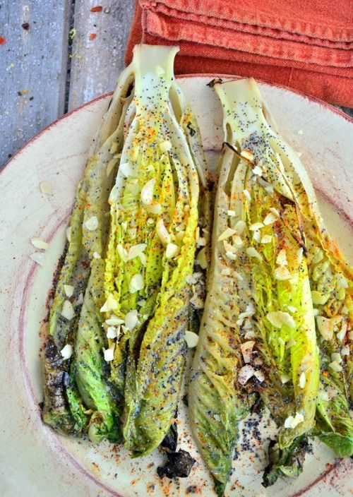 Summertime Grilled Romaine | via The Honest Company blog