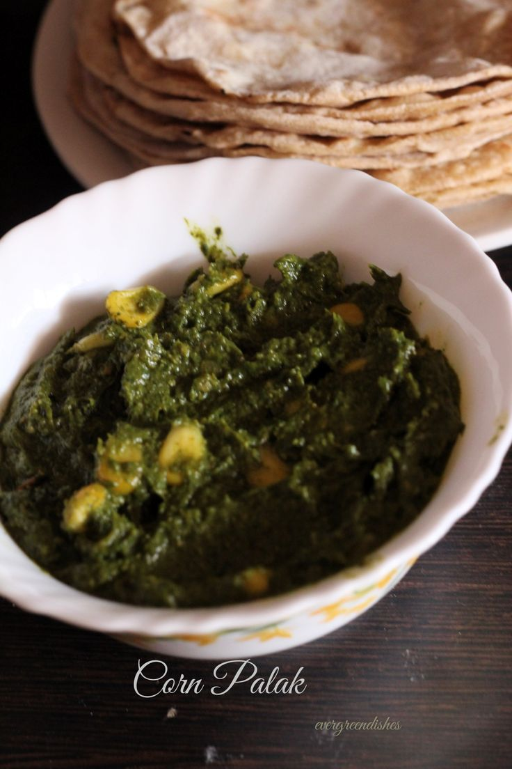 Corn Palak North Indian Sabzi