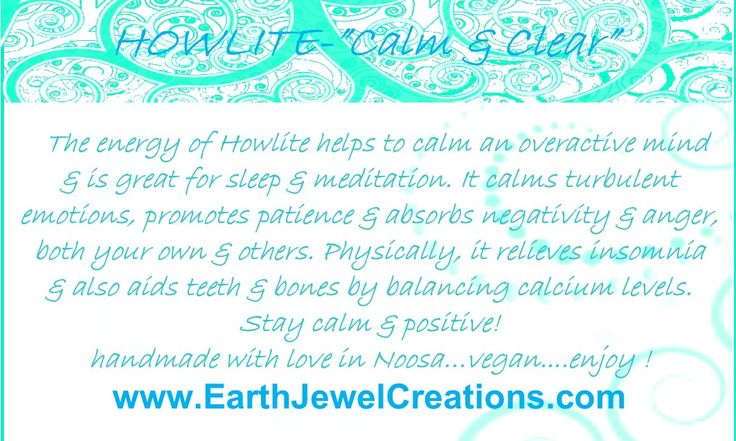 White howlite crystal energy jewelry