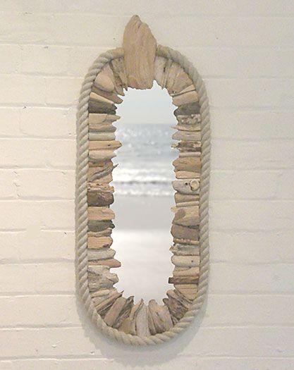 Capsule Mirror - Driftwood art furniture