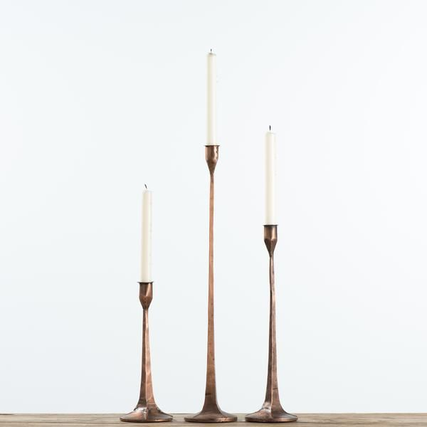 Copper Gatecrest Taper Holder Tall Candle Holders Iron Candlesticks Taper Holders