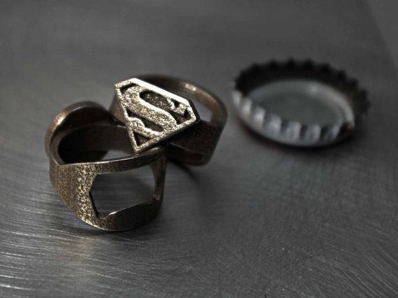 Superman Ring  Custom Size by niquegeek on Etsy, $24.99