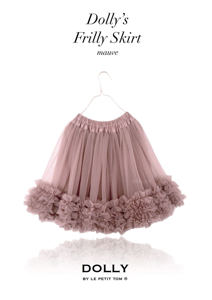 DOLLY by Le Petit Tom ® FRILLY SKIRT mauve