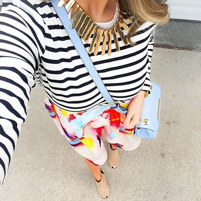 Stripes & Brights from @ sarasab on IG