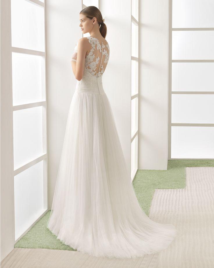 WENDY vestido novia en color natural/nude