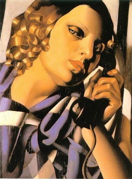 Tamara de Lempicka, The Telephone II, 1930, Private collection