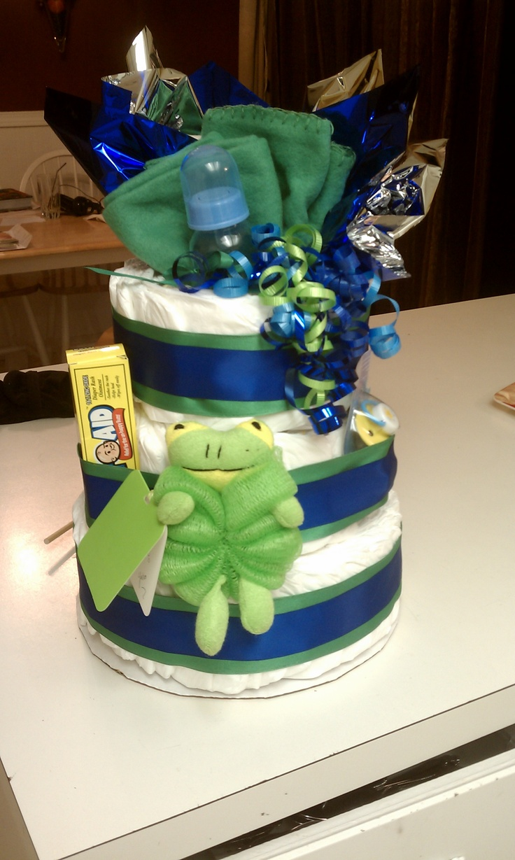 Diaper Cake Seahawks Colors Crafts Pinterest