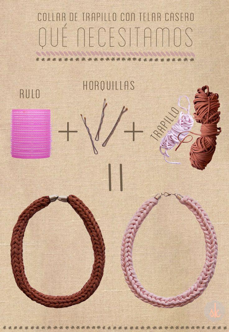 Qué se necesita para tejer un collar de trapillo con un telar casero