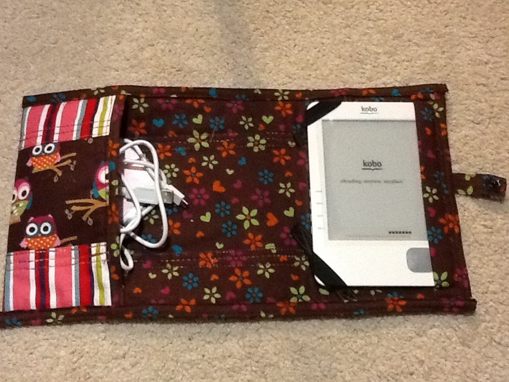 I made this kobo case for my niece last week. The left side has a zipper closure.
