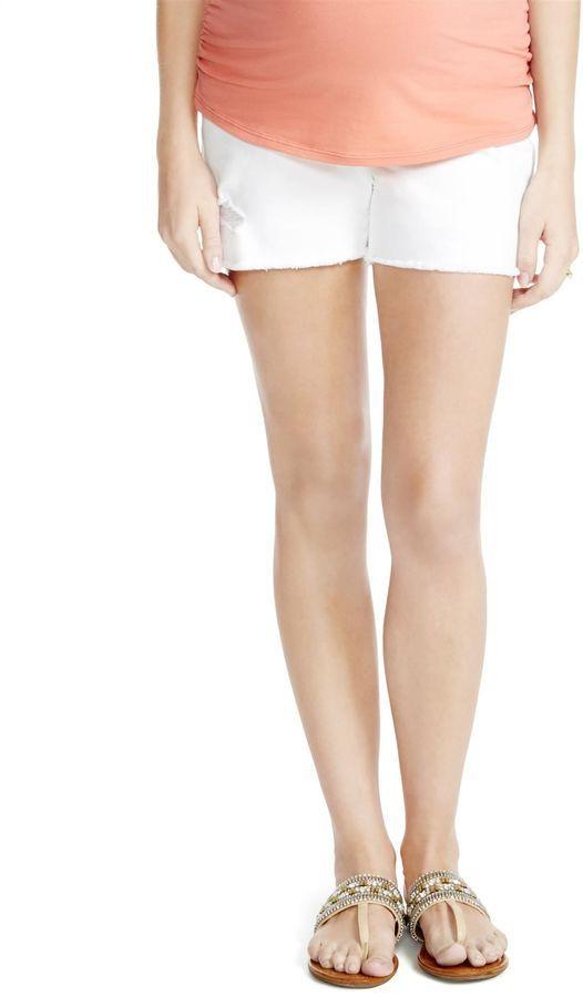 Motherhood Maternity Jessica Simpson Secret Fit Belly White Denim Maternity Shorts