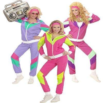 80er Jahre Retro Jogginganzug Trainingsanzug Damen Kostüm - Karneval Fasching