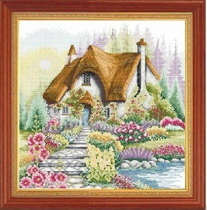 Beautiful House Counted Cross Stitch Kit