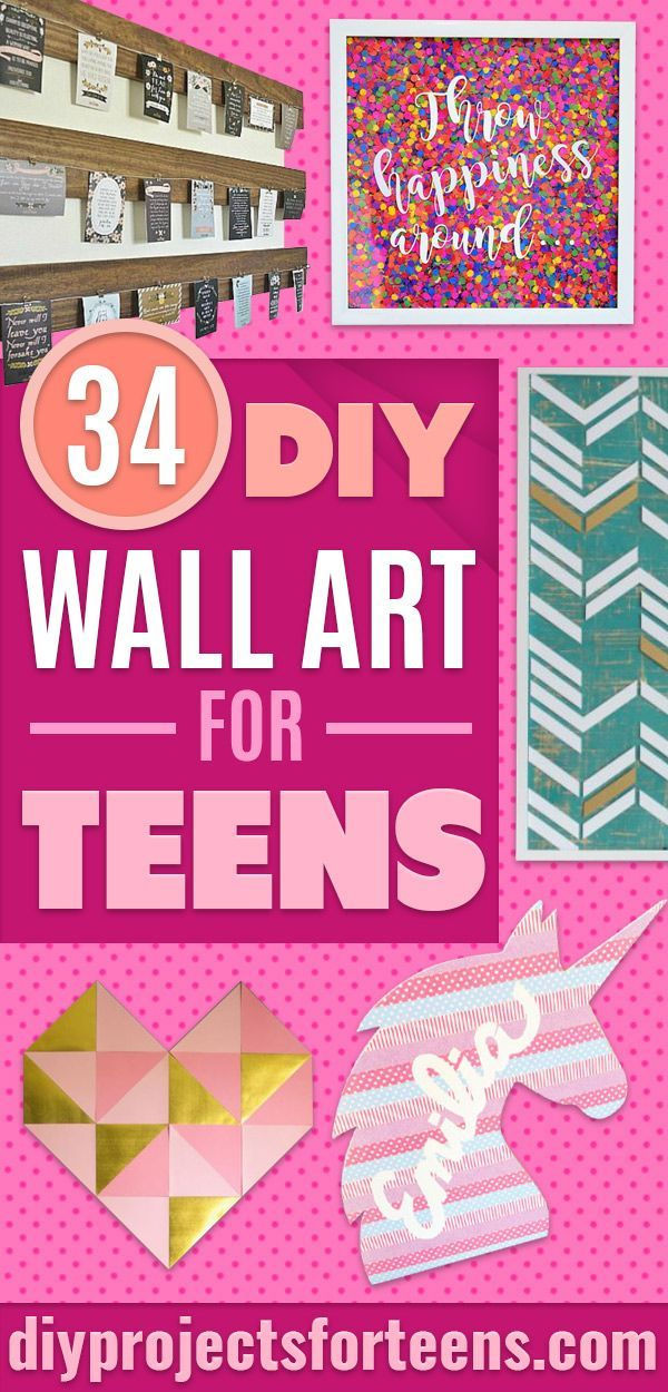 34 Really Cool Diy Wall Art Ideas For Teens Diy Wall Art Cheap Diy Wall Art Wall Decor Bedroom Girls