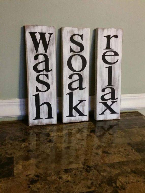 relax sign bathroom decor rustic bathroom decor tub decor relax