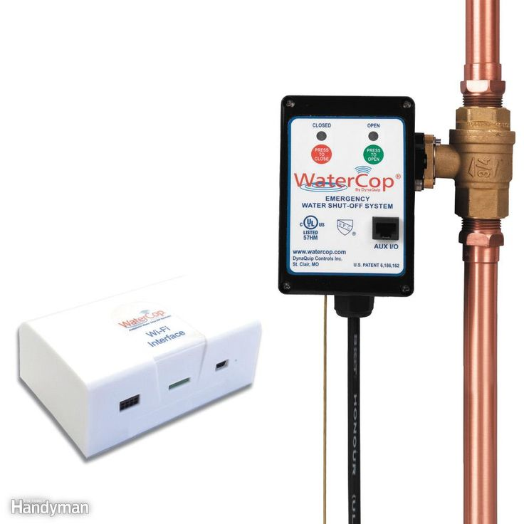 For the ultimate in water leak detection and flood prevention, consider a whole-house automatic shutoff system like this one. Wireless sensors placed around the house tell it when there's a leak or if a pipe has frozen, and a motorized valve shuts off water to the house. The WaterCop has been around for a few years, but the company now offers a Wi-Fi module that sends alerts to your smartphone or computer when there's a problem. A complete system consists of leak and freeze sensors, a Wi-Fi…