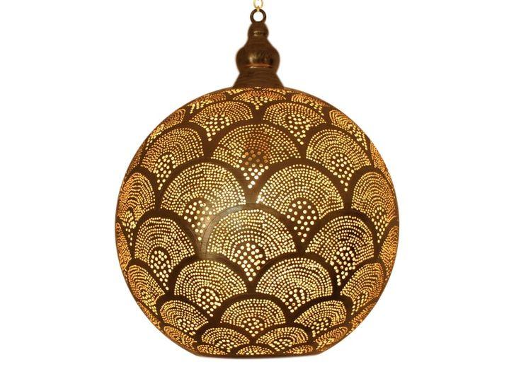 Moroccan Ceiling Lights | Moroccan Light Fixtures | Brass Lamp - E Kenoz