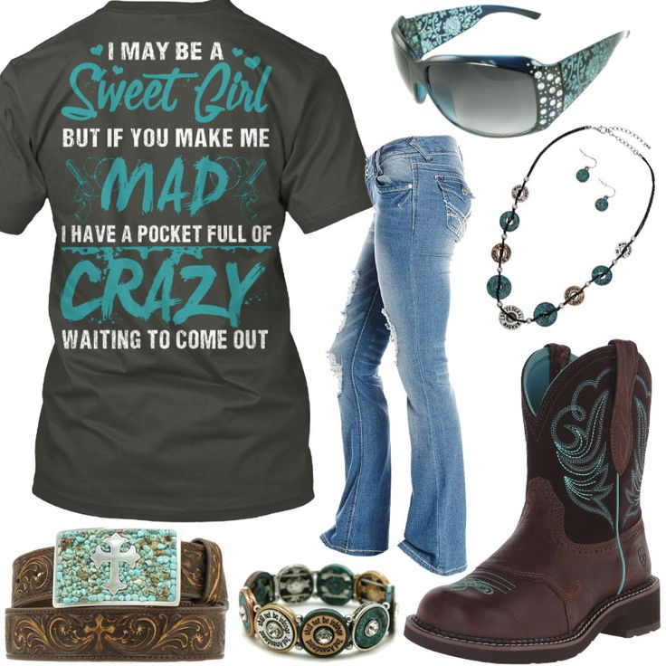 I May Be A Sweet Girl Ariat Fatbaby Boots Outfit - Real Country Ladies