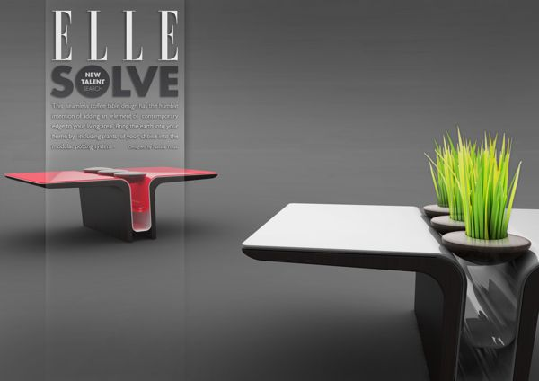 ELLE solve talent search indoor table by Natalia Tofas, via Behance