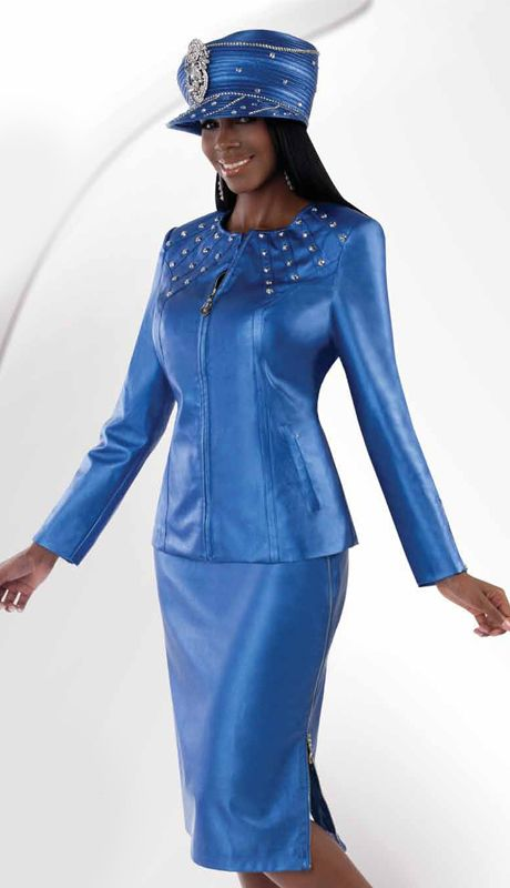 OD8192,Odeliah Denim And Leather Church Apparel Fall And Holiday Suits 2014