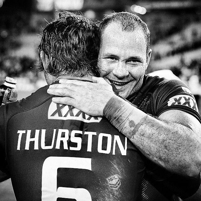 Cowboy Hugs @jthurston06 @matt__scott #Origin #NRL | pic @chukstagram