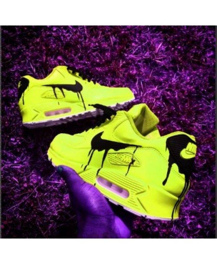 Vente Chaussures De Sport Nike Air Max 90 Candy Drip Bright Jaune Trainers En Solde