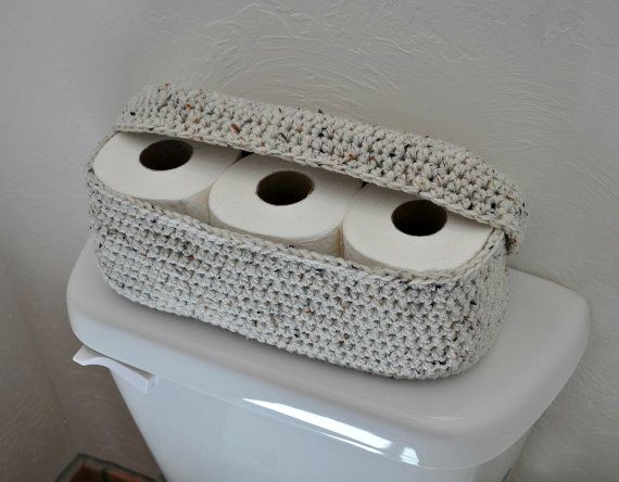 Spare Roll Holder Toilet Tissue Basket Bathroom Decoration ...