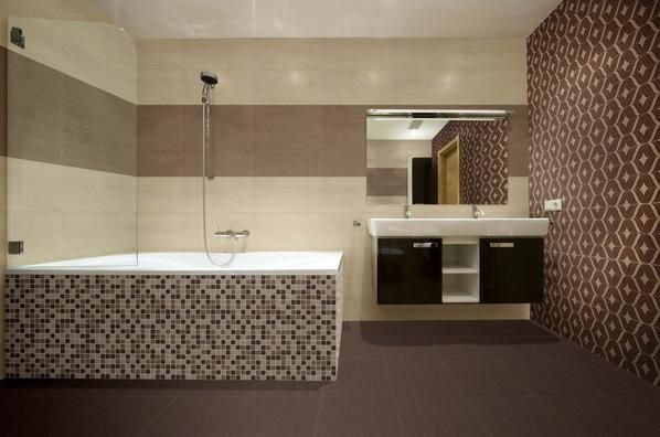Tex Brown 13x26 and Beige Mixed Mosaic #HDC
