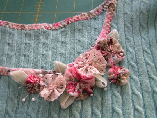 Recut the neckline of. Sestet and add yoyo flowers for that vintage look