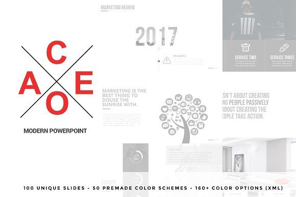 Aceo Modern Powerpoint by Flyer King on @creativemarket