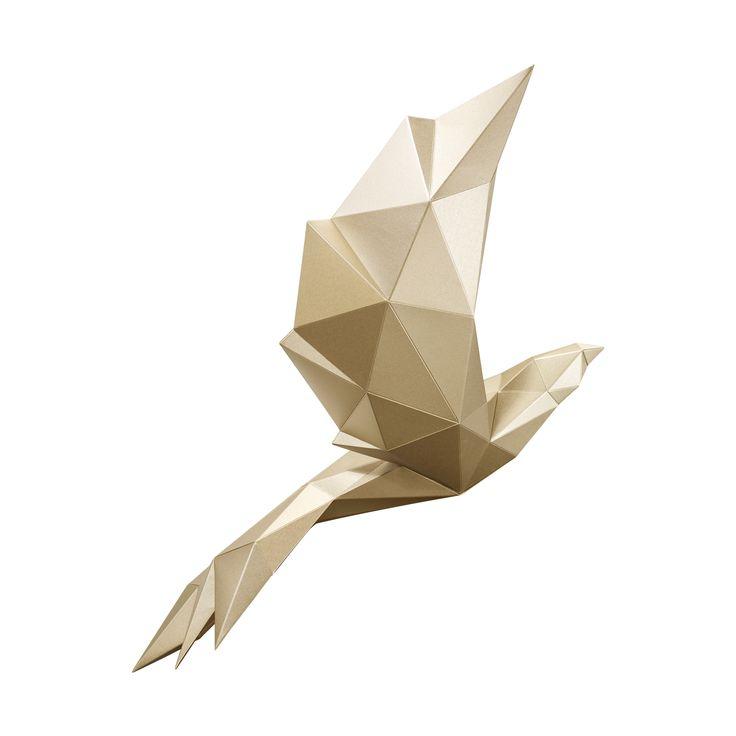 PAPA Play art Polygon art Bird Mystery Gold