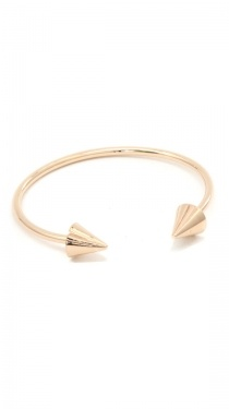 Gold Double Header Spike Bracelet