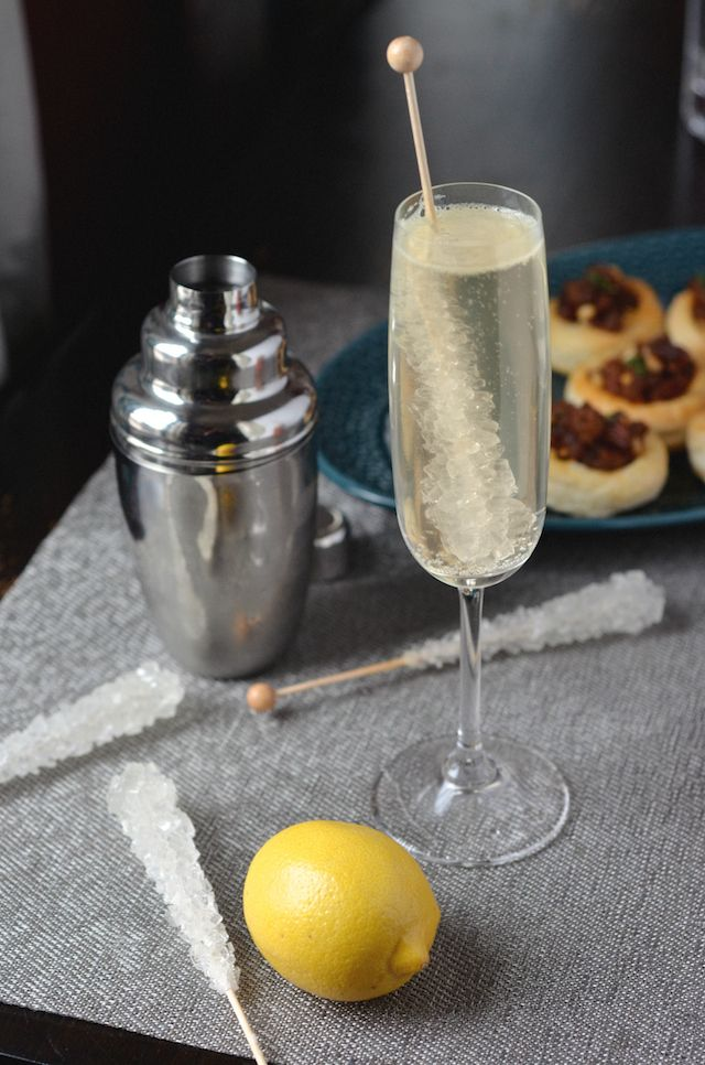 French 75 Mocktail (non-alcoholic) | Always Order Dessert A virgin version of the classic champagne and gin cocktail. This one is made with tonic water, fresh lemon juice, and bitters