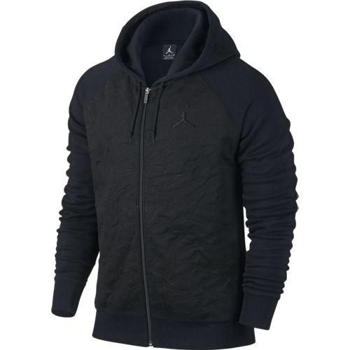 AIR JORDAN 3 FLEECE FULL-ZIP HOODIE 819125-010  $120.00 CAD #Mens #Jordan #Apparel